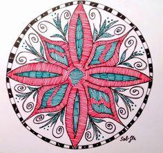 Lieschens-Bilder: Zentangle 185 Mandala Weekly Challenge 203