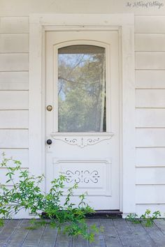 reference of Entrance Porch interior - Lilly is Love Farmhouse Interior Doors, Porch Interior, Interior Door Styles, Modern Farmhouse Interiors, Farmhouse Windows, Farmhouse Furniture, Antique Doors, Old Doors, Vintage Doors