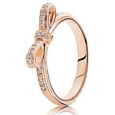Pandora Rose Sparkling Bow Cubic Zirconia Ring 180906CZ