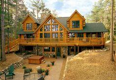 Log cabin living, log cabin homes, log cabins, house goals, f Log Cabin Living, Log Cabin Homes, Luxury Log Cabins, Log Home Interiors, Log Home Plans, Barn Plans, Log Home Decorating, Cabins And Cottages, House Goals