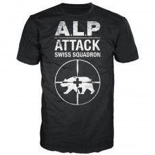Alpattack (black) Alprausch men's T-shirt