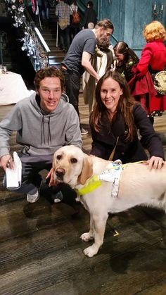 Thanks @BarbicanCentre for great touch tour & guide dog sitting #HamletBarbican #guidedogs #BenedictCumberbatch