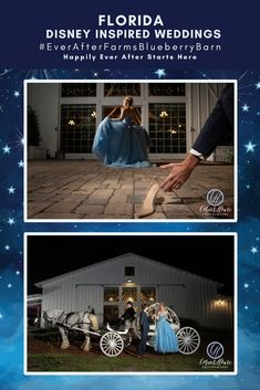 #EverAfterFarmsBlueberryBarn is the perfect setting for your dream wedding! Learn how you can use elegant details to create the ultimate Disney Inspired Wedding. Our gorgeous included decor, stunning ceremony site, and romantic Cinderella carriage, will help create the Fairytale Wedding you've always imagined. Click for Pricing & More Details @cornerhousephoto @bakemyday23 @riversidecarriagecompany Disney Inspired Wedding, Disney Weddings, Farm Wedding, Dream Wedding, Blueberry Wedding, Melissa Miller, Funny Black Memes, Cinderella Carriage, Wedding Inspiration