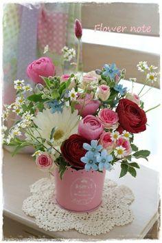【今日の贈花】7歳のピアニストはピンクで! http://ameblo.jp/flower-note/entry-11525517887.html