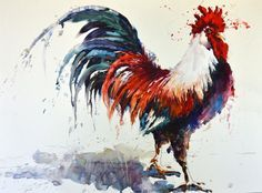 rooster watercolor paintings - Google Search