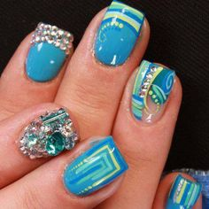 Omg! These nails are so decorative! Go watch this nail art video! www.cgcnails.com