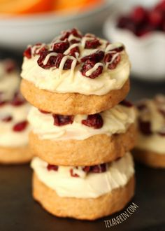Cranberry Bliss Cookies by Texanerin Baking  More food blog favorites on FeedDaily: http://www.feeddaily.com/