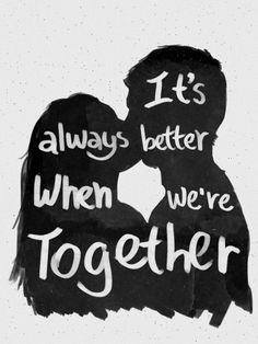 It`s always better when we are together <3 <3 <3 - imagem exclusiva On The Wall | Crie seu quadro com essa imagem https://www.onthewall.com.br/frases-e-citacoes/it-s-always-better-when-we-are-together-2 #quadro #canvas #moldura