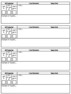 This student self-assessment is a great tool to get students to reflect upon their learning using I can statements.It is not only a great way for s...
