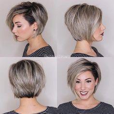 45 Incredible Hairstyles Ideas for Thin Hair - hair styles Bob Hairstyles For Fine Hair, Pretty Hairstyles, Short Hairstyles For Women, Layered Hair, Pixies, Hair Dos, Short Hair Cuts, Pixie Cuts, Hair Trends