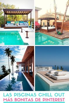 Las piscinas Chill Out más bonitas de Pinterest. #piscinas #chillout #pinterest #estiloydeco Chill, Patio Interior, Outdoor Decor, Home Decor, Rural House, Outdoor Patio Decorating, Stair Risers, Terrace, Floor Couch
