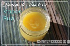 Homemade Non-toxic Vapor Rub for Coughs and Colds - super easy and really works! Made with #essentialoils