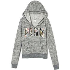 PINK Perfect Zip Hoodie Tropical Floral ** You can find out more details at the link of the image. (This is an affiliate link and I receive a commission for the sales) Vs Pink Outfit, Pink Outfits, Fashion Outfits, Slim Fit Hoodie, Full Zip Hoodie, Victoria Secret Outfits, Victoria Secrets, Grey Hoodie, Hoodie Jacket