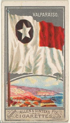 Valparaiso, from the City Flags series (N6) for Allen & Ginter Cigarettes Brands