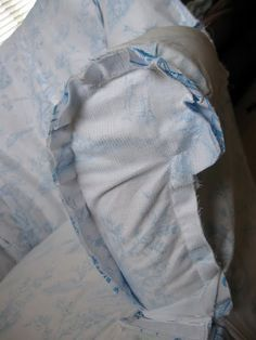 nice chair slipcover tutorial...I've done this and it works like the pros