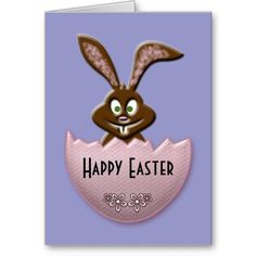 Easter bunny - pink card