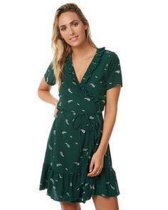 e9fc5ace5d2e GREEN PAISLEY WOMENS CLOTHING RUE STIIC DRESSES - S118-28GREEN Green Dress,  Wrap Dress