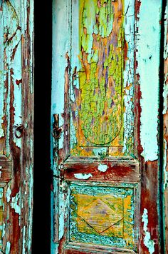 Old Doors Photograph - Am I Permitted? by Anna Wacker