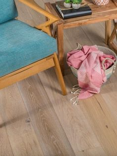 Pink and blue have been fabulous as the prime colours of 2016 and oh this Kronan European Oak Hardwood Flooring sets them off so beautifully. Engineered Hardwood Flooring, Wooden Flooring, Hardwood Floors, European Home Decor, Wood Planks, Simple House, Architecture, Decoration, Colours