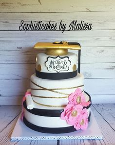 Kate Spade Graduation Cake - Cake by Sophisticakes by Malissa