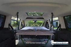 Schlafen im Ford Tourneo Connect Lang II (Bj. seit 2013) | Bequem im Auto übernachten mit Auto-Himmelbett.de