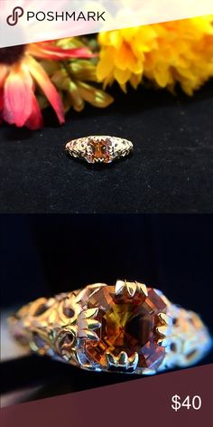 Santa Ana Madeira Citrine Ring (10.0) TGW 2.200cts Santa Ana Madeira citrine ring. Embellished with 14K yellow gold. Wear it on any occasion. Finish - Platinum Overlay Product Weight (grams) - 4 Gemstone Count - 1 Gemstone Minimum Weight(Carats) - 1.950 Total Stone Weight (Carat) - 2.200 Gemstone 1 - Madeira Citrine Octagon 8x8 Two Tiered Brilliant Cut Gemstone Count 1 - 1 Gemstone Weight 1 - 2.200 Primary Stone - Madeira Citrine Metal Purity - 925S Metal Color - White Metal - 925 Sterling…