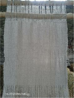 Linen on a warp-weighted loom