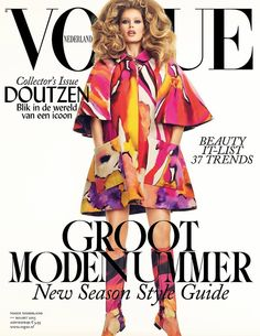 Doutzen Kroes on Vogue Netherlands March 2015.