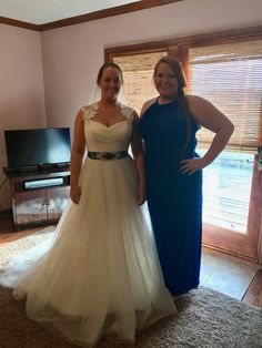 Trying on dresses the week before the wedding!!
