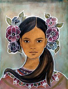 Original art work anemone by claudiatremblay on Etsy