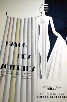Goddess Drawing - Poster for Rayon des soiries, comic opera, libretto by Nino, music by Manule Rosenthal by European School Art Deco Print, Goddess Art, Fine Art America, Wall Art, Drawing, Comics, School, Poster, Music