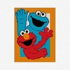 Elmo and Cookie Monster CROCHET AFGHAN PATTERN GRAPH .PDF