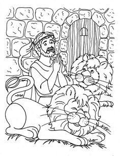 daniel praying three times a day in daniel and the lions den coloring page - Daniel And The Lions Den Coloring Page