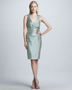 69e016964e7 Kay Unger New York Shawl-Collar Cocktail Dress (Neiman Marcus)