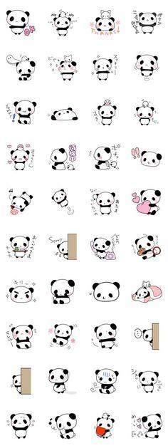 Panda-Aufkleber - Stuff - - New Ideas Stickers Panda, Cute Stickers, Anime Stickers, Panda Wallpapers, Cute Cartoon Wallpapers, Kawaii Drawings, Easy Drawings, Cute Small Drawings, Mini Tattoos