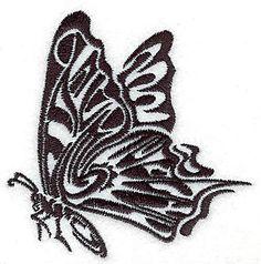 Tribal Motif Butterfly small<br> 3.44w X 3.52h