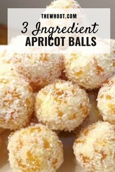 Apricot Balls Recipe - 3 Ingredients - Video | The WHOot Chocolate Slice, Chocolate Blanco, Homemade Chocolate, Chocolate Flavors, Chocolate Recipes, White Chocolate, Coconut Chocolate, Chocolate Cookies, Baking Recipes