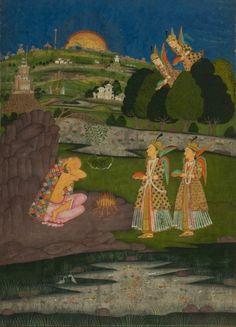 The angels bring food to Ibrahim ibn Adham (Balkh, 8thC) at dawn…