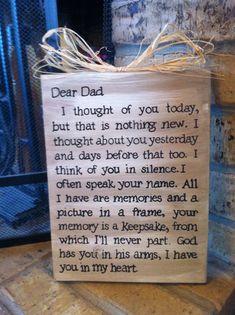 Dad Memorial Sign Plaque