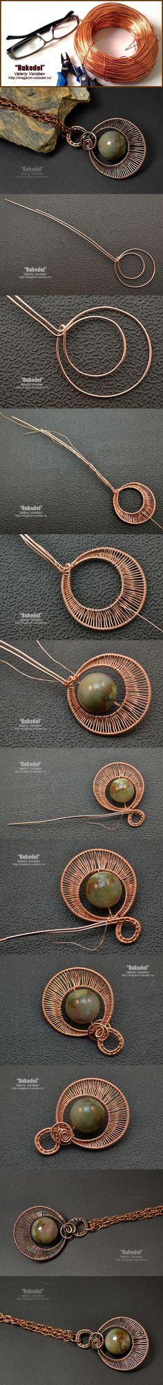 Copper pendants with your own hands. Ease to make pendants are made of 1 mm and 0.4 mm wires (a pair of 0.8 mm and 0.3 mm can be used). For beginners, these small photo …