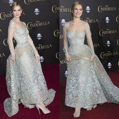 Lily James Cinderella premiere 4