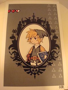Zelda poster print by EscapeCapsule on Etsy, $6.99