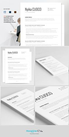 Resume Template Nyika by Resume Templates on @graphicsmag
