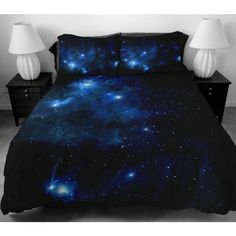 Bedding Set 2 Sides Printing The Navy Blue Star Duvet Covers With Matching design 2  Pillow Cases For  Boys Home Decorating Ideas