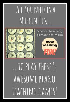 Piano Theory Games using muffin liners! | www.teachpianotoday.com #pianoteachinggame #pianogame #pianostudent #pianotheory