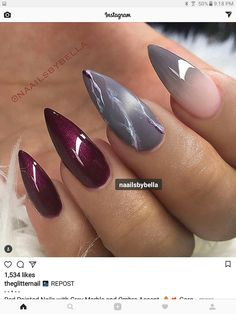 SEXY stiletto nail art | ideas de unas | ongles | #nails #nailart