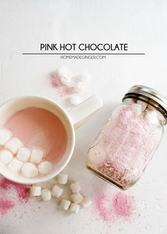 Mix up some pink hot chocolate with just a few ingredients!
