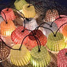 Lichterkette von Petit Mouton Création Die Lichterkette zaubert ein gemütliches Licht und festliche Stimmung Hübsch verpackt und ferti
