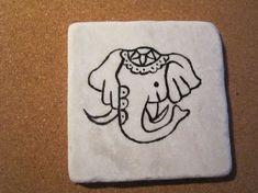 Hand painted coasters - dmc designs