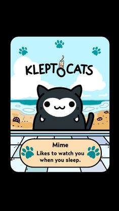 "Here's my new friend ""Mime"" #KleptoCats @HyperBeard #iOS www.kleptocats.com/share"